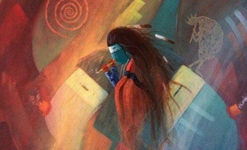 Ursprungsbefolkning målning.