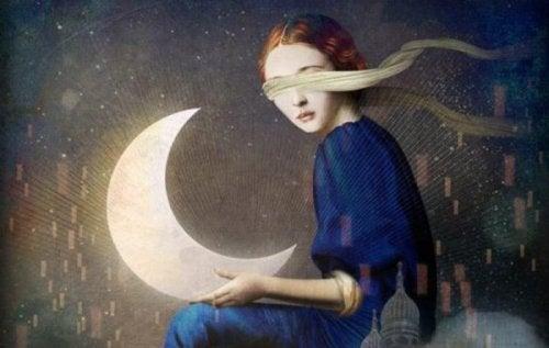 Flicka med måne