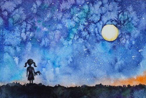 Flickan som tittade på himlen och upptäckte sitt inre ljus