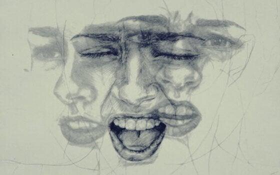Skiss av kvinna i tre faser