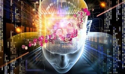 En hjärna som bearbetar siffror