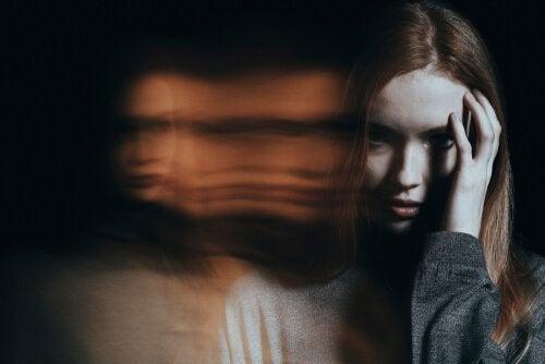 Kvinna med omotivationssyndrom