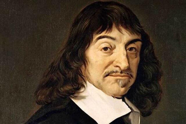 Målning av Descartes.