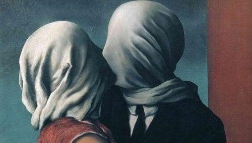 Par med dolda ansikten