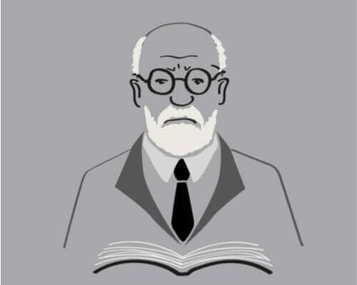 Teckning av Sigmund Freud