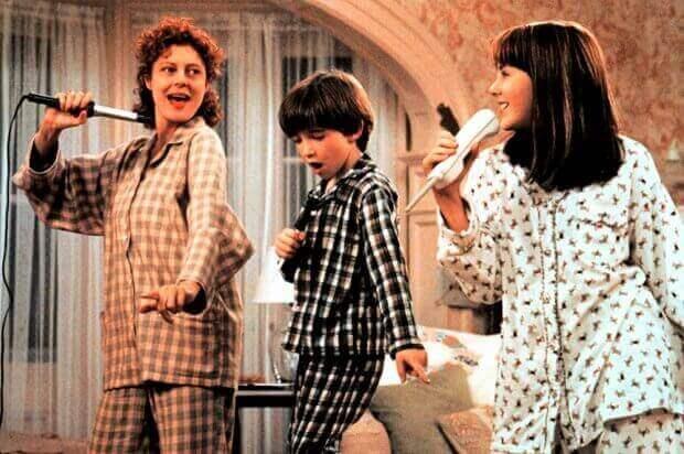 Familj som sjunger.