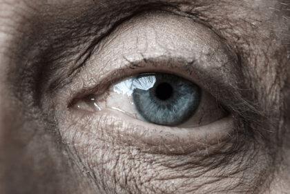 Ögat på en äldre människa