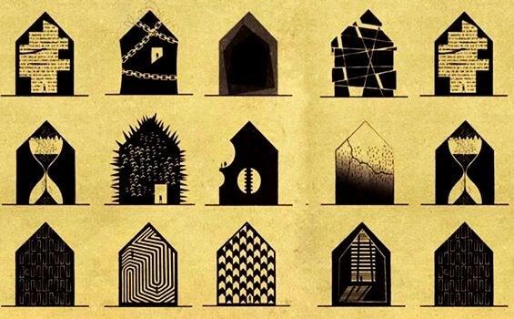 Hur hade mentalsjukdomar sett ut som hus?