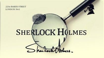 Sherlock Holmes underskrift