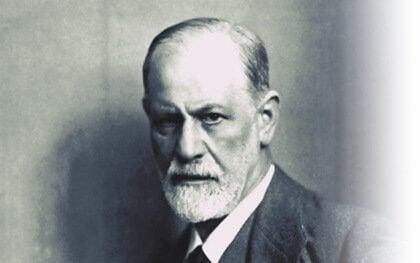 Ett foto av Sigmund Freud.