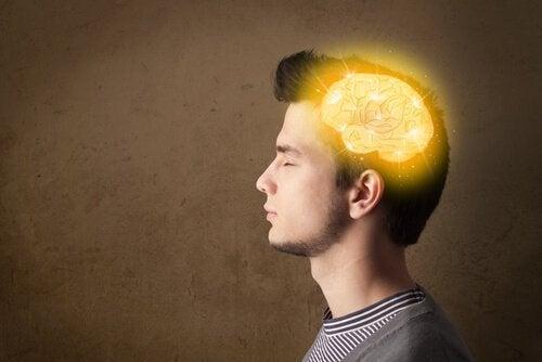 Tonåring med upplyst hjärna
