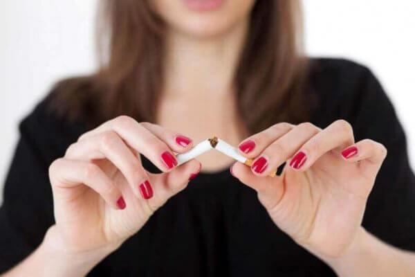 att bryta med cigaretter