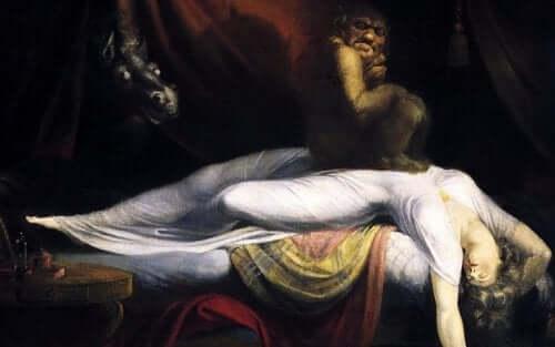Incubus på sovande kvinna