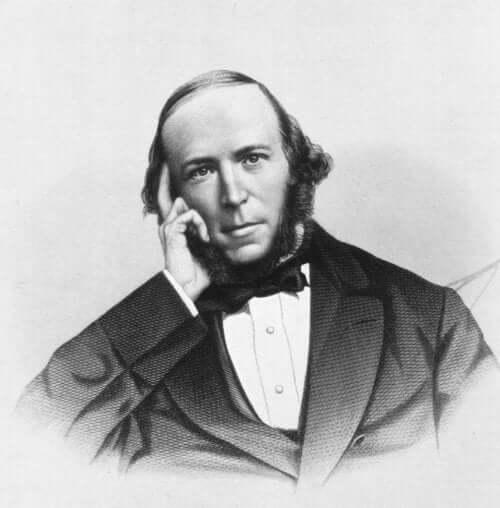 Porträtt av Herbert Spencer