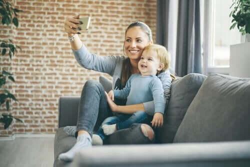 Selfie med barn