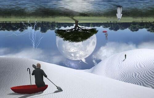 Surrealistiskt drömlandskap