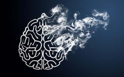 Hjärna och cigarett.