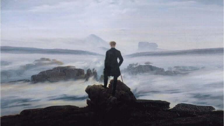 Målning av havet.