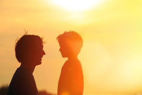 Pappa och son.