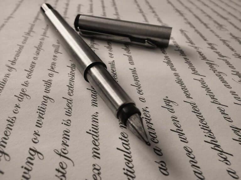 Penna och papper.