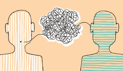 Personer som pratar.