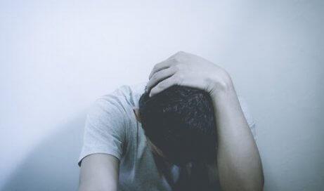 Person med svår ångest