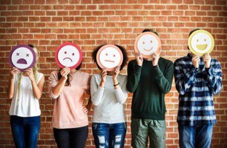 Personer med olika humör
