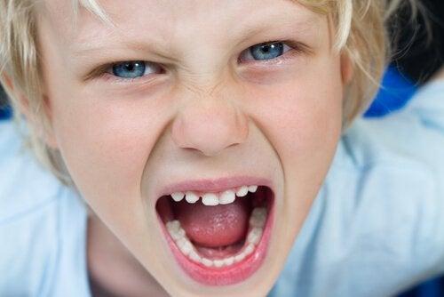 Barn som skriker.