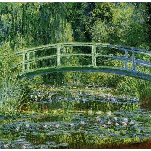 Målning av Oscar Claude Monet.