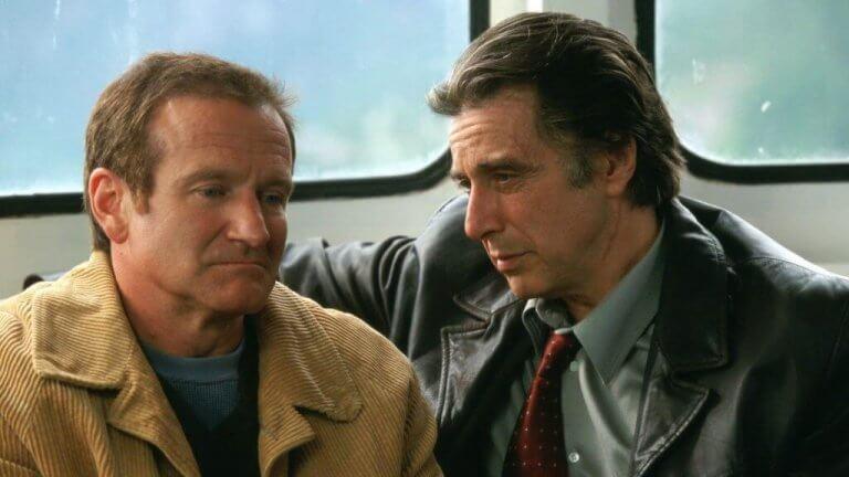 Pacino och Williams på tåget.