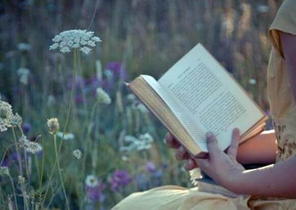Person som läser.