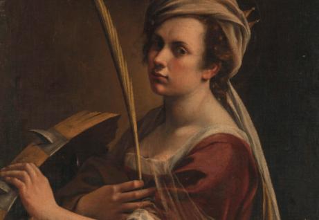 Artemisia Gentileschi med pensel.