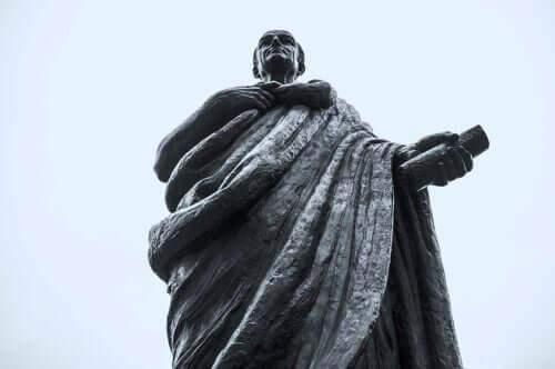 Seneca med skrift i hand