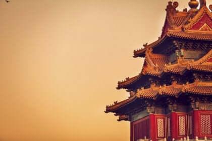 Ett hus i Kina.