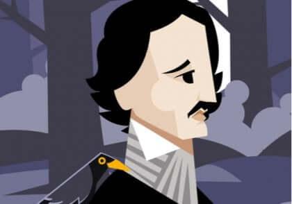 Karikatyr av Edgar Allan Poe