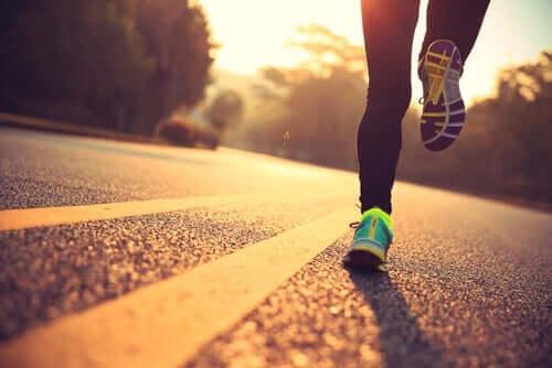 Person som springer.