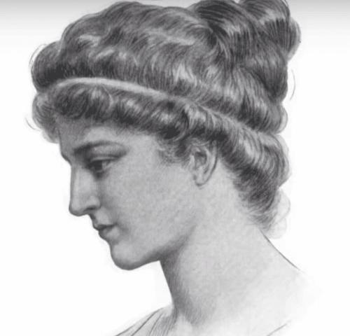 Ritning av Hypatia av Alexandria.