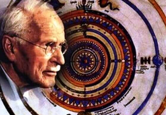 Carl Jung med Mandala.