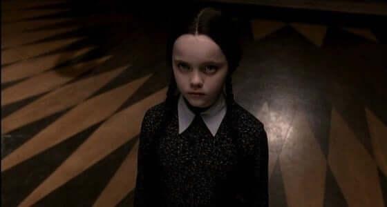 Flicka i familjen Addams.