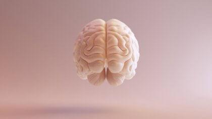 Hjärna som svävar.