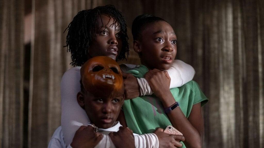 """Mamman och barnen i filmen """"Us"""""""