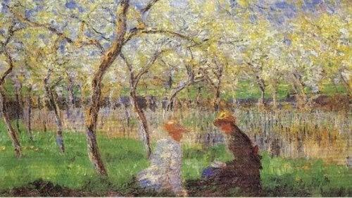 Naturmålning av konstnären Édouard Manet