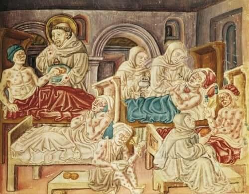 Sjukhus under medeltiden.