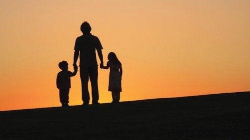 Barn med föräldrar