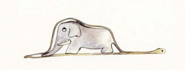 Elefant inuti orm