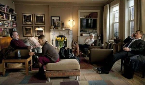 Scen från filmen Carnage