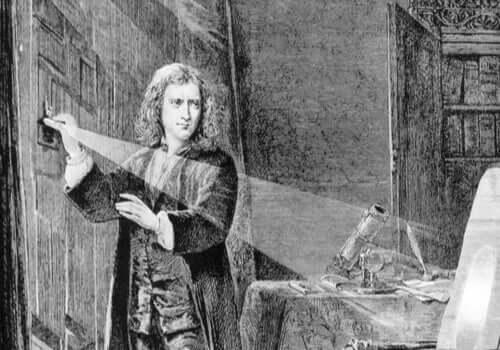 Newtons experiment.