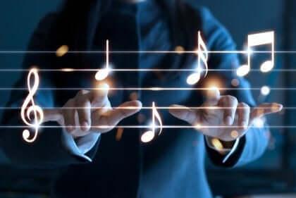 En patient som upplever effekten av musikterapi.