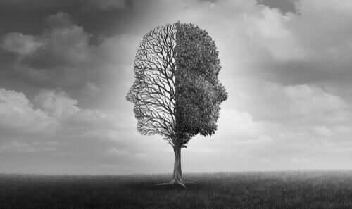 Träd med två ansikten.