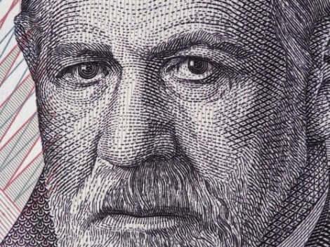 Porträtt av Freud